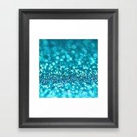 Turquoise Glitter (photo… Framed Art Print