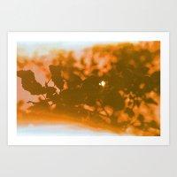 Orange Haze And White Su… Art Print