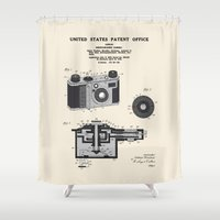 Camera Patent 1938 Shower Curtain