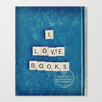 I Love Books Canvas Print