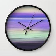 Early Morning Sea Abstra… Wall Clock