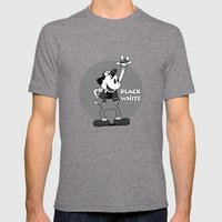 Black And White Mens Fitted Tee Tri-Grey SMALL