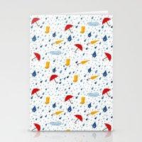 Rainfall pattern Stationery Cards