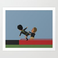 Cantona kung fu kick Art Print