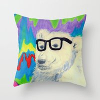 Colorful thinking Throw Pillow