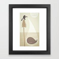 whale watching. Framed Art Print