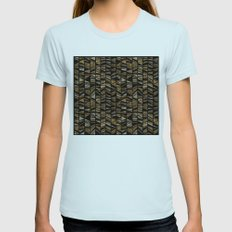 Azteca Womens Fitted Tee Light Blue SMALL