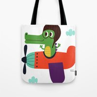 crocodile pilot Tote Bag
