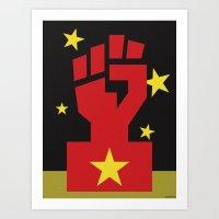 RED CHINA Art Print