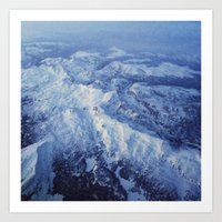Winter Mountain Range II Art Print