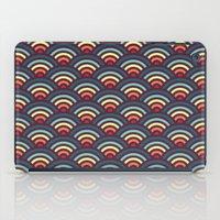 rainbowaves pattern iPad Case
