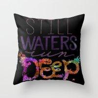 Still Water Throw Pillow