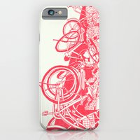 iPhone & iPod Case featuring On Paper: Tokyo Bicycles by Anton Marrast
