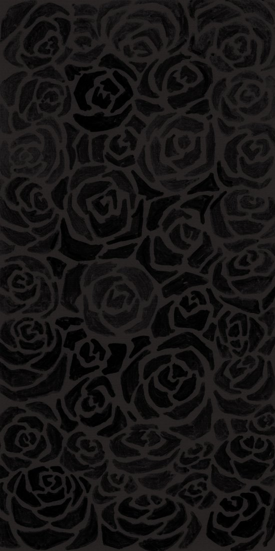 Cluster of Black Roses Art Print