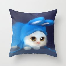 Team Bunny Throw Pillow