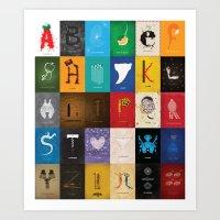 Meagan's Movie Alphabet … Art Print