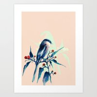 Hashtag Blue Bird Art Print