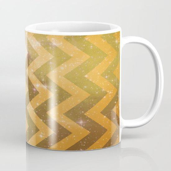 Golden Space Chevron Mug