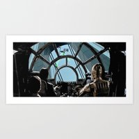 Falcon on the Bridge Art Print