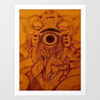 XARAXIN- Cosmic Terror Art Print