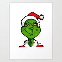 How Grinchy! Art Print