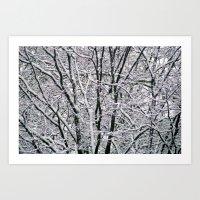 White Maze. Art Print