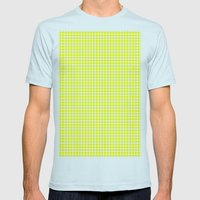 YELLOW DOT Mens Fitted Tee Light Blue SMALL