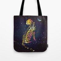 Space Leopard Tote Bag