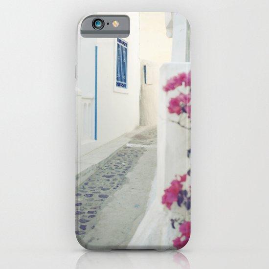 White Santorini Street iPhone & iPod Case