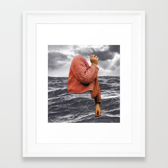 HIGH SEAS Framed Art Print