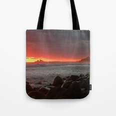 Red at night sailor's delight Tote Bag