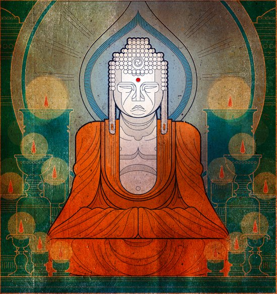 My Buddy Buddha Art Print