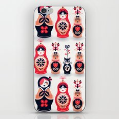 Russian Nesting Dolls – Hot Pink iPhone & iPod Skin
