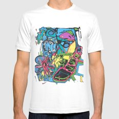 Abstract #5 Mens Fitted Tee White SMALL
