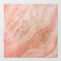 Polished Rose Gold Marble Canvas Print