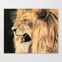 A Lion's Voice Canvas Print