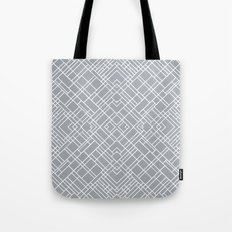 Map Outline 45 Grey Repeat Tote Bag