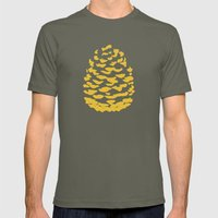 Pinecone Mustard Yellow Mens Fitted Tee Lieutenant SMALL