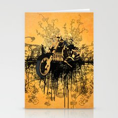 Steam motorcycle  Stationery Cards