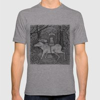 Fox Riding Moose Mens Fitted Tee Athletic Grey SMALL