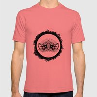 Half Cute Wild Cat Mens Fitted Tee Pomegranate SMALL