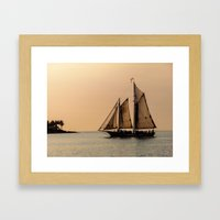 Sunset in Key West Framed Art Print