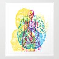 Brain Skeleton Art Print