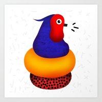 Jumpin' Joe Bird Art Print