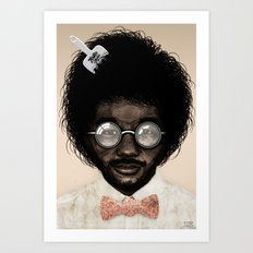 Portrait of Toro Y Moi Art Print