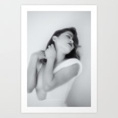 White Dress Series Art Print