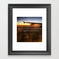 Quote Of The Day Framed Art Print