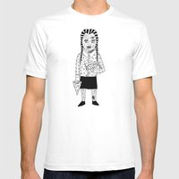 WEDNESDAY ADDAMS Mens Fitted Tee White SMALL