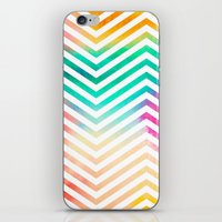 Bright Abstract Watercolor 1 with Chevrons iPhone & iPod Skin