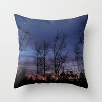 The Line Between Night A… Throw Pillow